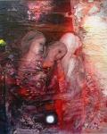 le-amiche-collage-tecnica-mista-su-tavola-150x120-anno-1995-2000